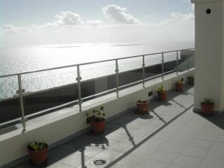 Looking out to sea south from the terrace