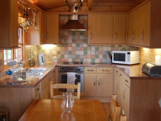 Deerwalk shares the seven acre site with six other cabins. on site fishing and archery