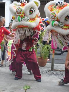 Lion dance for the Goddess Kwan Yin's Birthday