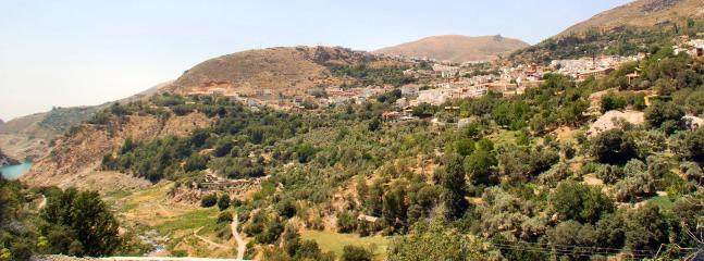 The Village above Canales reservoir