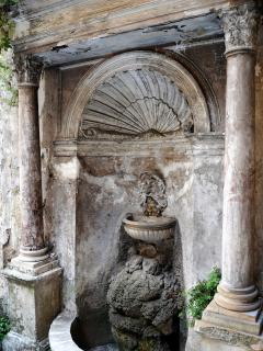 The old fountain in the courtyard