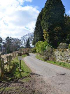 Rural views around Bluebell Cottage.