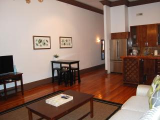 Spacious Living Room is open to Kitchen