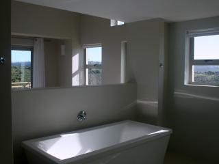 Main bathroom with a view.