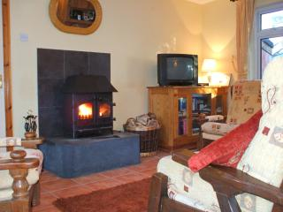 Sitting Room with Wood Burner. free logs provided during your stay