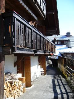 Patio and chalet