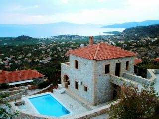 overlooking Stoupa & villa Ialeira
