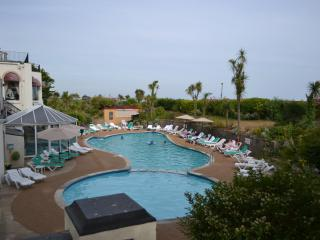 the heated outdoor pool and a heated indoor pool for winter