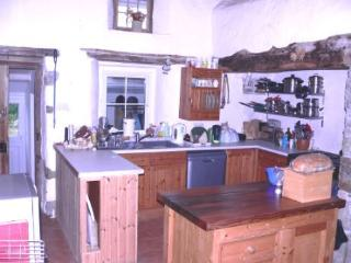 Kitchen with inglenook fireplace