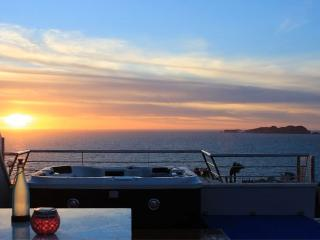 Sunset from the bar & jacuzzi