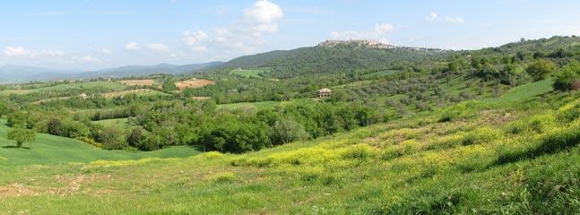 Civitella Marittima: a view over the hills