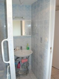 basin in shower room