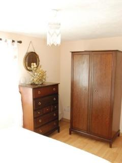 bedroom wardrobe and chest of drawers