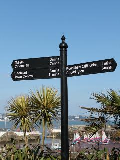 Sign Post in Paignton Harbour, just a 10 minute stroll from Number 6 Braeside Mews