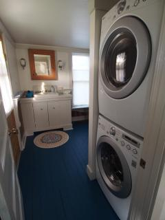 Entry to Bathroom and Laundry Area