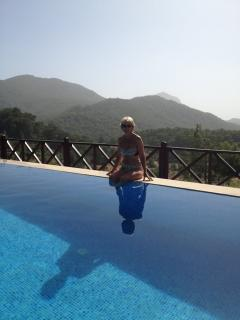 If you want to be this person by the pool at Keci Evi then get in touch today.