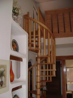 Staircase to third bedroom and roof terrace