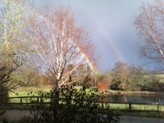 The beautiful view from the cottage - rainbows not guaranteed!