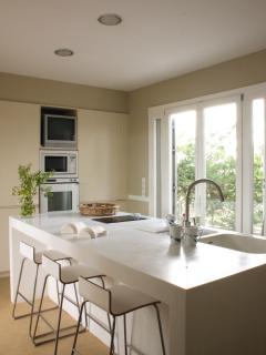 Our very modern kitchen.