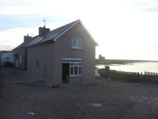 Sea Shore Cottage just after the July 2013 re-opening - with Sea Otter Cottage beyond