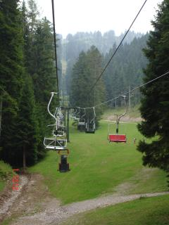 Ski lift in summer for walks and dry tabogan