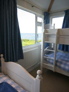 Beautiful sea views from the childen's bedroom