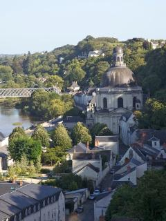 Views on the Loire by the castle walk