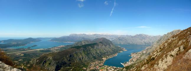 The mountain road above Kotor offers breathtaking views