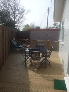 Back garden decking