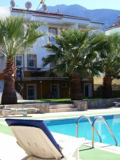 Imaculate pool with plenty of sunbeds for your use