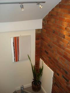 feature original brickwork on stairwell