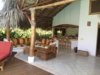 outdoor living, bar and kitchen