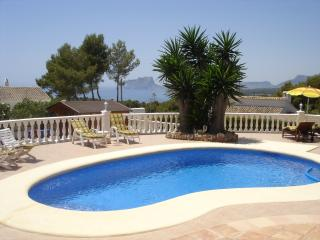 Villa with stunning seas views in El Portet Moraira close to town and beach
