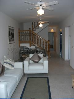 Lounge/Dinner, modern furniture, ceiling fans are fitted in all rooms.