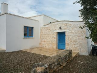 Hilltop old stone home with olive grove in Puglia