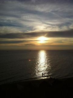 Sunset at Hill Head Beach