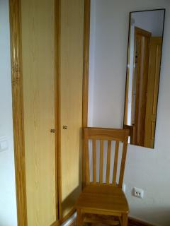 The wardrobes in the downstairs bedroom.