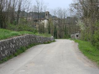 the road and the village of Mozzanella