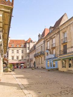 The lovely pedestrian area in Semur is a short walk from the house and has shops and restaurants.