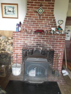 Woodstove for warmth!