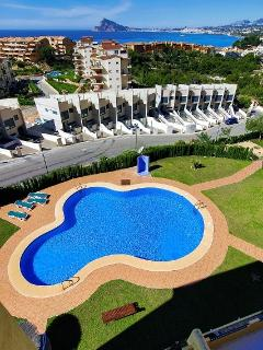 The large swimming pool and gardens for all the family