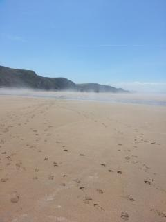 Sandymouth National Trust beach and coastal path in June - EMPTY but fab any time of year