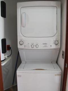 En-suite full-sized washer and dryer