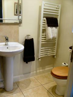 En-suite Bathroom with Shower, wash hand basin/wc & Radiator