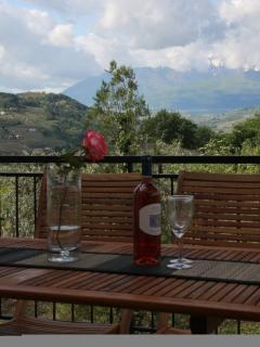 Enjoy a drink in relaxing surroundings on the 1st floor terrace with great views of the mountains