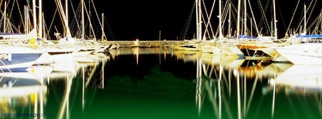 Puerto Banus Marina At Night