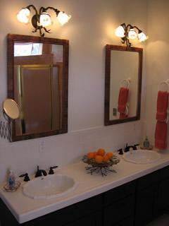 Lovely baster bathroom with new tiled walk-in shower