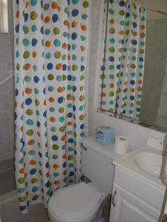 Bathroom of queen studio cottage