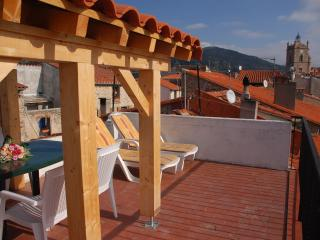 Sun drenched roof terrace, with pergola for cosy shelter