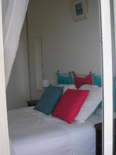 Bedroom 1 - amazing Med. views visible from your bed - viewed from doors to panoramic balcony